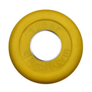 ДТРЦ-1,25/51 Диск «Profigym» тренировочный обрезиненный 1.25 кг цветной 51 мм (металлическая втулка)