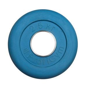 ДТРЦ-2,5/51 Диск «Profigym» тренировочный обрезиненный 2,5 кг цветной 51 мм (металлическая втулка)